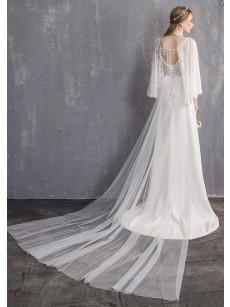 2020 Dressy Satin Bride Dresses Princess Brush Train Wedding Dresses GW-008