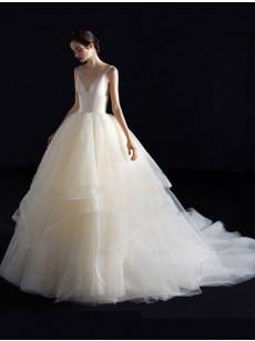 Chapel Train lovely Wedding Dresses, Glamorous Spaghetti Bridal Dresses GW-014