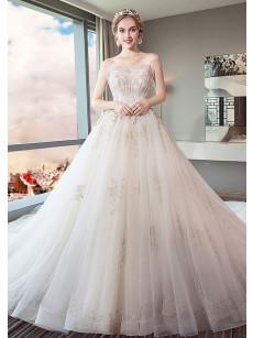 New Arrival Court Train Wedding Dresses Elegant Church Bride Dresses GW-009
